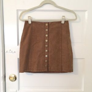 """Free People """"Oh Snap"""" Vegan Leather Skirt"""